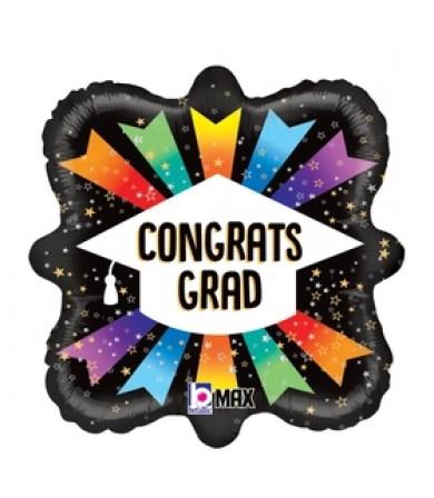 """26100P Congrats Grad Ribbon (18"""")"""