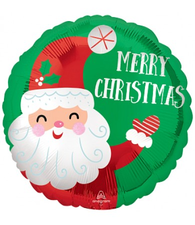 "43348 Smiley Satin Santa Christmas - (18"")"