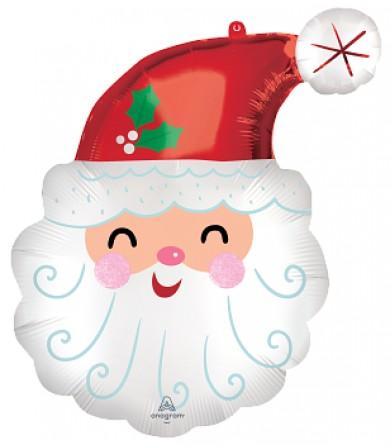 43342 Smiley Satin Santa Head - Supershape