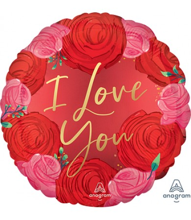 "42264 Satin Circled in Roses (18"")"
