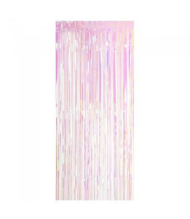 White Rainbow Simmer Curtain 91cm x 195cm