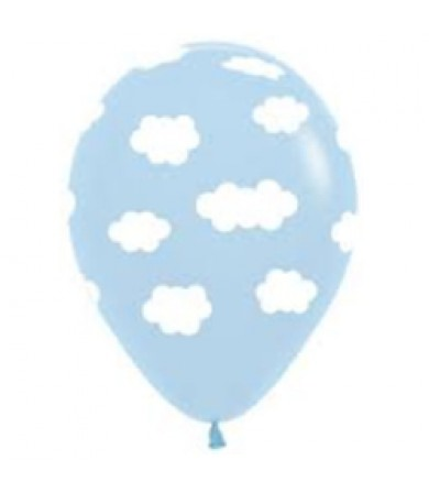 "Sempertex 12"" Fashion Solid Light Blue 039 - AO Clouds"