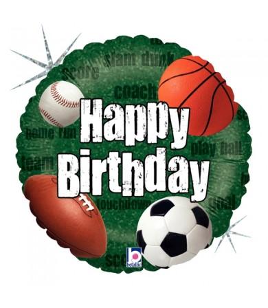 "86828P - Sports Balls Birthday (18"")"