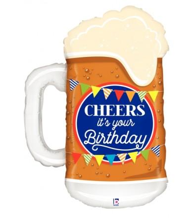 """35562P Cheers Birthday Beer (34"""")"""