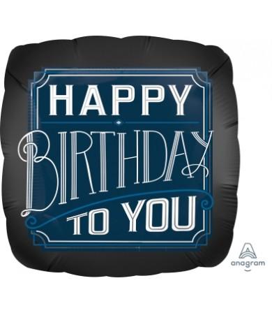 "38577 Happy Birthday Man (18"")"