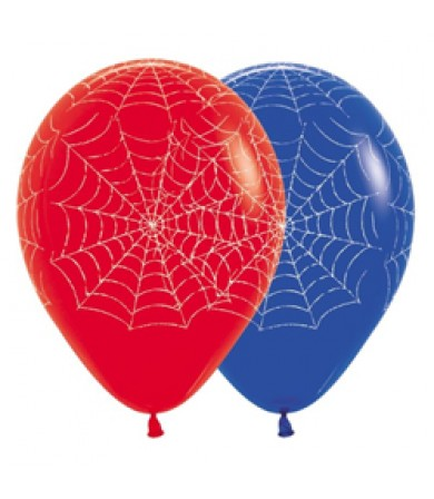 "Sempertex 12"" Fashion Solid Blue & Red - AO Spider Web"