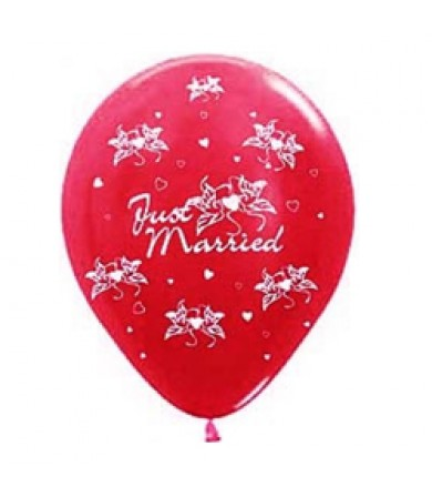"Sempertex 12"" Metallic Red 515 - AO Just Married 2"