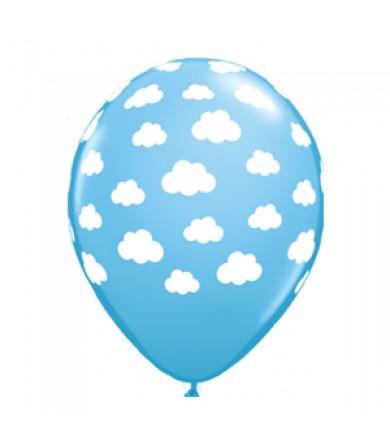 "Qualatex 11"" Round Balloon Printed Clouds"