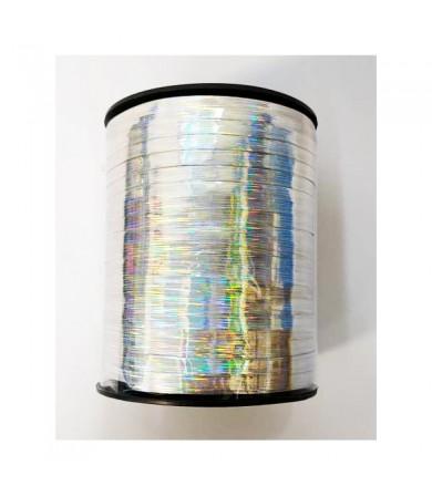 Balloon Ribbon - Laser Stripe Silver