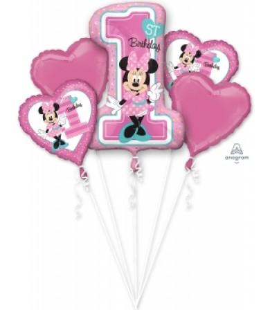34379 Minnie 1st Birthday Bouquet