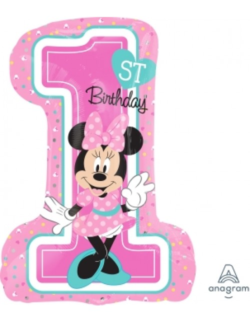 34352 Minnie 1st Birthday - SuperShape